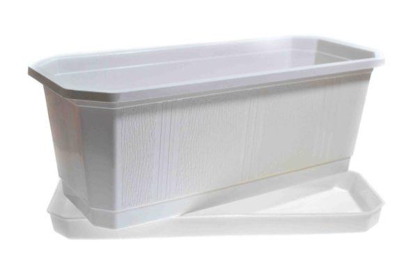 Ящик для квітів 40см білий 2