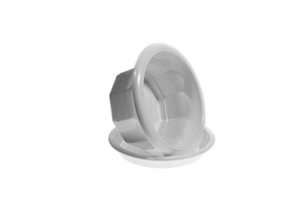 """Пластиковий горщик для квітів """"Тюльпан"""" 0,5л (для фіалки) білий 2"""