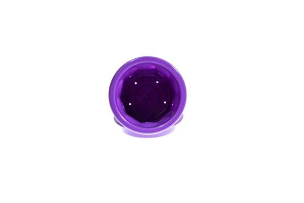 """Пластиковий горщик для квітів """"Тюльпан"""" 0,4л (малий низький) фіолетовий 1"""