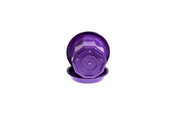 """Пластиковий горщик для квітів """"Тюльпан"""" 0,4л (малий низький) фіолетовий 3"""