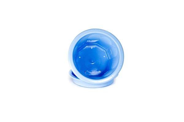 """Пластиковий горщик для квітів """"Тюльпан"""" 0,4л (малий низький) блакитний 1"""