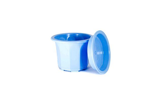 """Пластиковий горщик для квітів """"Тюльпан"""" 0,4л (малий низький) блакитний 4"""