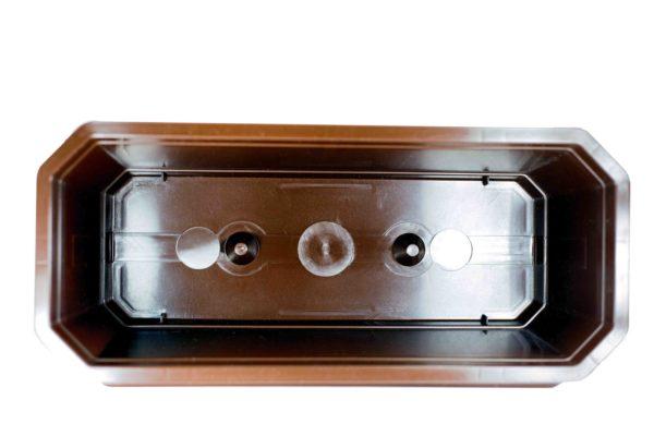 Ящик для квітів 40см коричневий 1