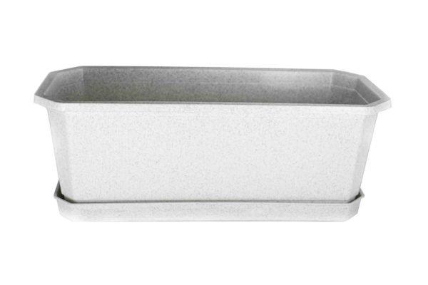 Ящик для квітів 40см білий мрамор
