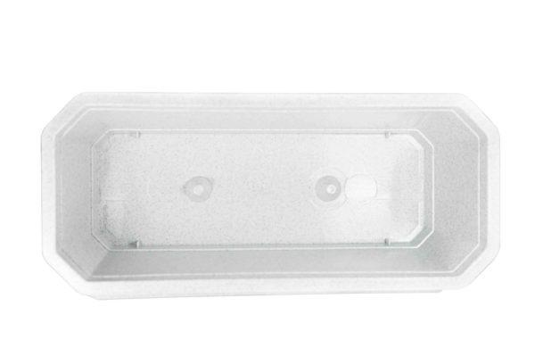Ящик для квітів 40см білий мрамор 1