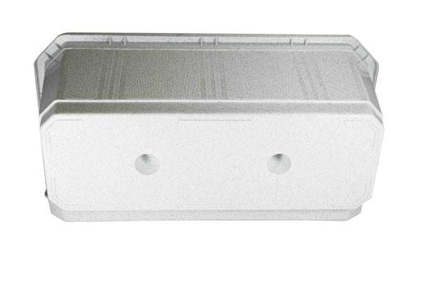 Ящик для квітів 40см білий мрамор 3