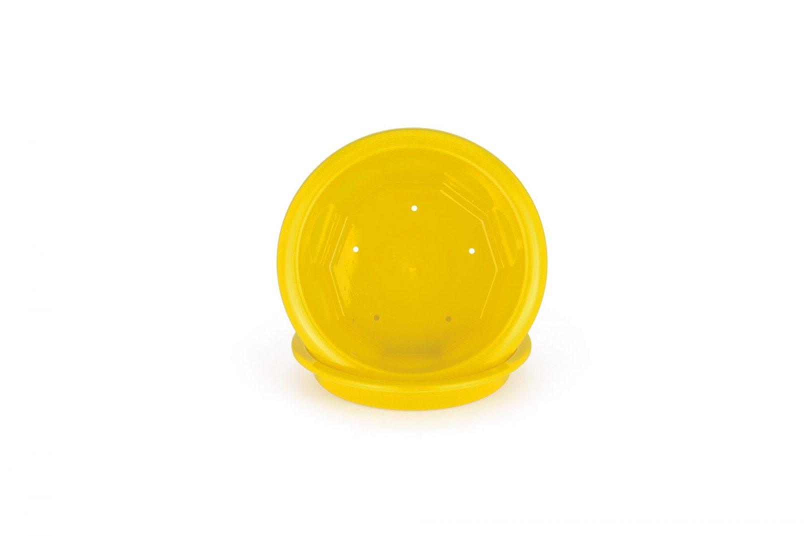 """Горшок для цветов пластиковый """"Тюльпан"""" 0,5л (для фиалки) желтый"""