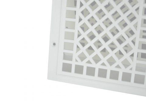 Вентиляционная решетка пластиковая белая